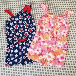 Set of 2 Sweet Summer Rompers